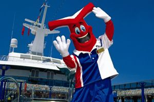 Carnivals Fun Ship Freddy. He sure is a Fun Guy. I heart him...He's been on all our cruises. He's everywhere!  ;D
