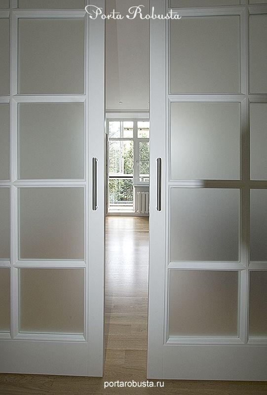 """Крашенная межкомнатная дверь со стеклом """"Opera"""". Межкомнатные двери на заказ в Москве"""