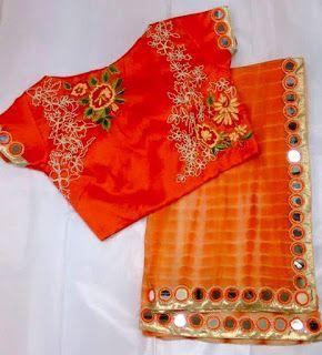 Georgete Shibhori Sarees with Designer stitched blouse | Buy Online Saree With Best Prices | Elegant Fashion Wear