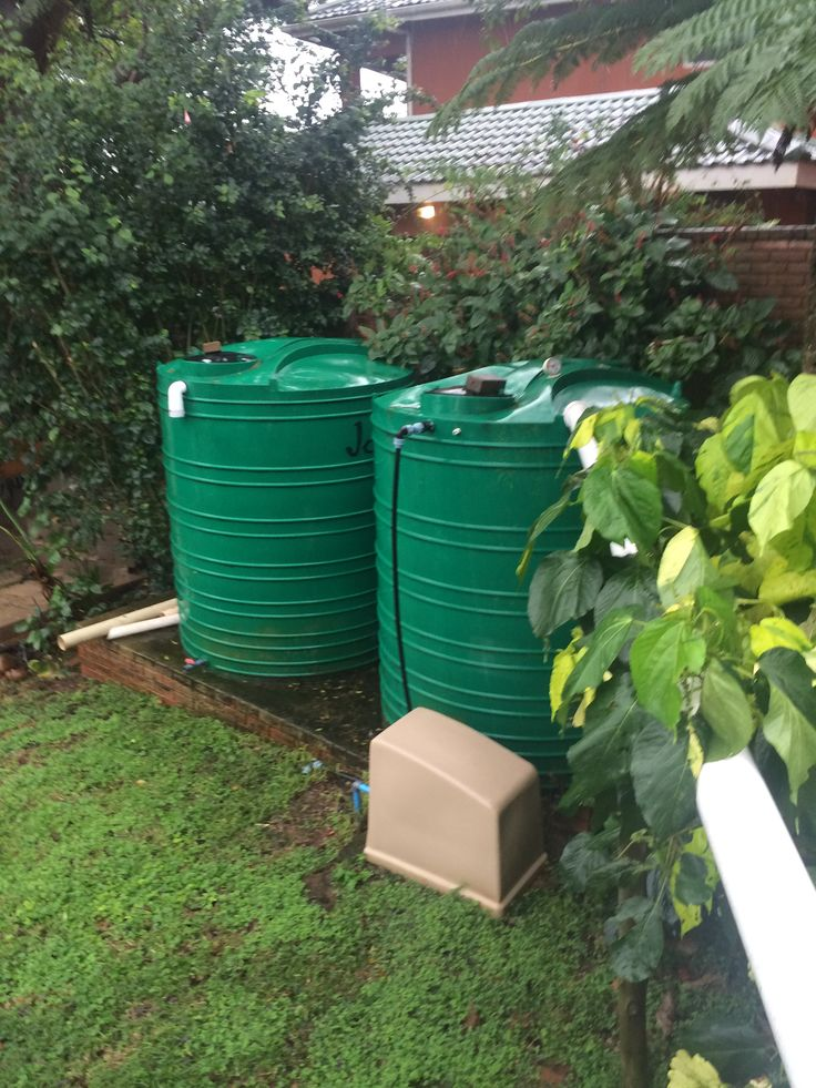 10000 Liter Rainwater Harvesting System With A Booster Pump