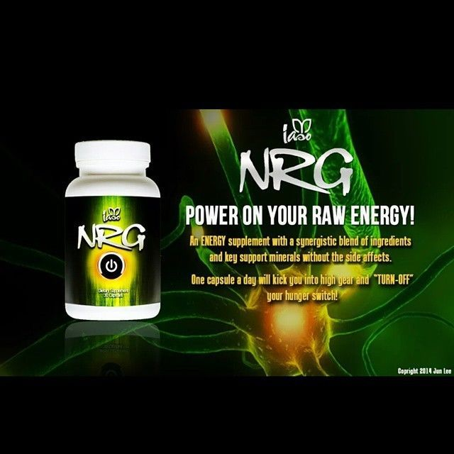 NRG Energy Diet Pills New Formula No DMAA 1 Bottle 30 Pills AUTHENTIC #Iaso