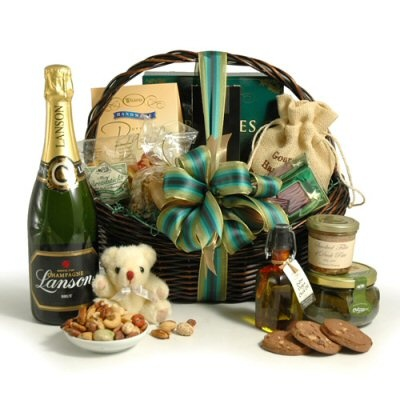 Champagne & Gourmet Food Gift Basket