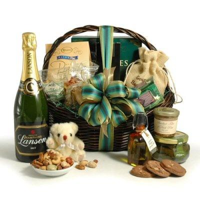 Champagne & Gourmet Food Gift Basket