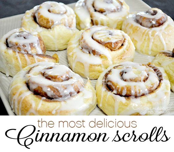 The Most Delicious Cinnamon Scrolls | The Organised Housewife