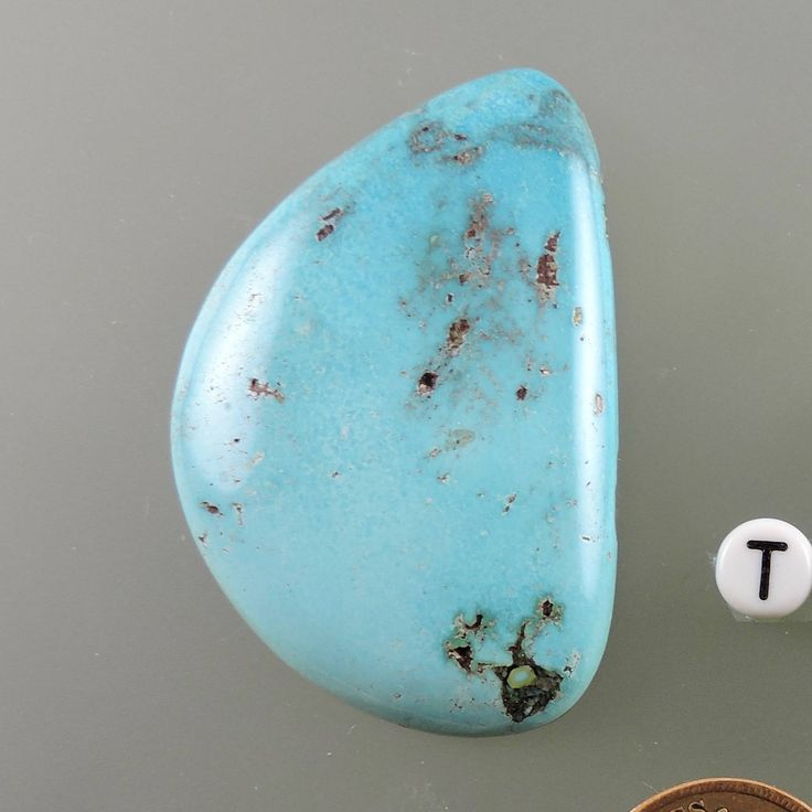 Turquoise Bisbee Cabochon , Bisbee Turquoise Cab, Designer Bisbee Cabochon, Hand Cut Bisbee Cab, Pendant Cab, Gift Cab, C2349,  49erMinerals by 49erMinerals on Etsy