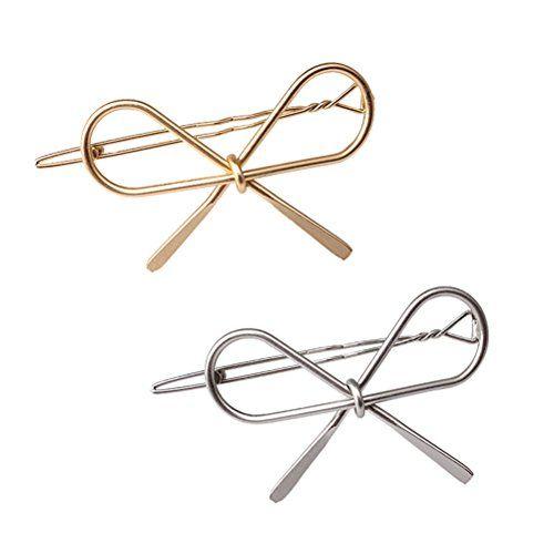 Cuhair 2-Piece New Vintage Haarnadeln Metallschleife Knoten Haarspangen Mädchen Frauen Zubehör Hairgrips Neue Marke Haarspange Haarspange Klaue