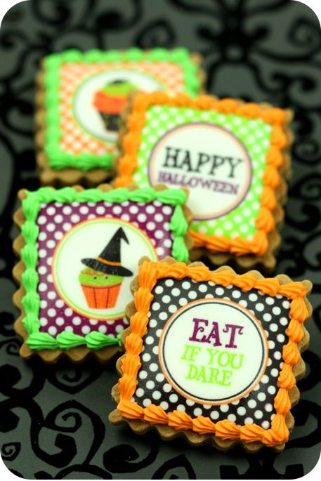 how to make edible image cookies halloween cookies - Edible Halloween Decorations