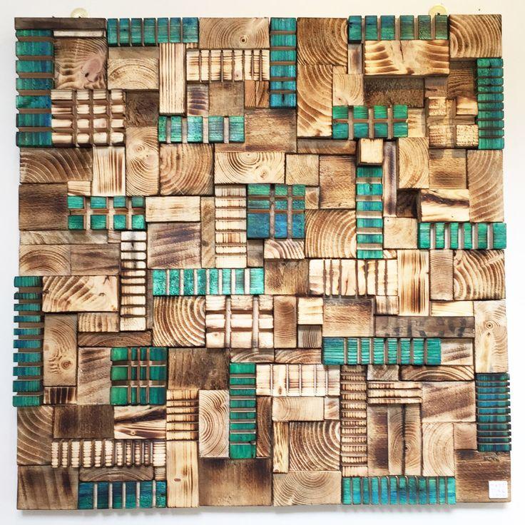 Wood wall art , Modern abstract wall decor sculpture.