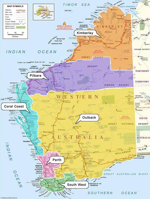 Western Australia Map Map Of Western Australia Australia WA - Australian desert map