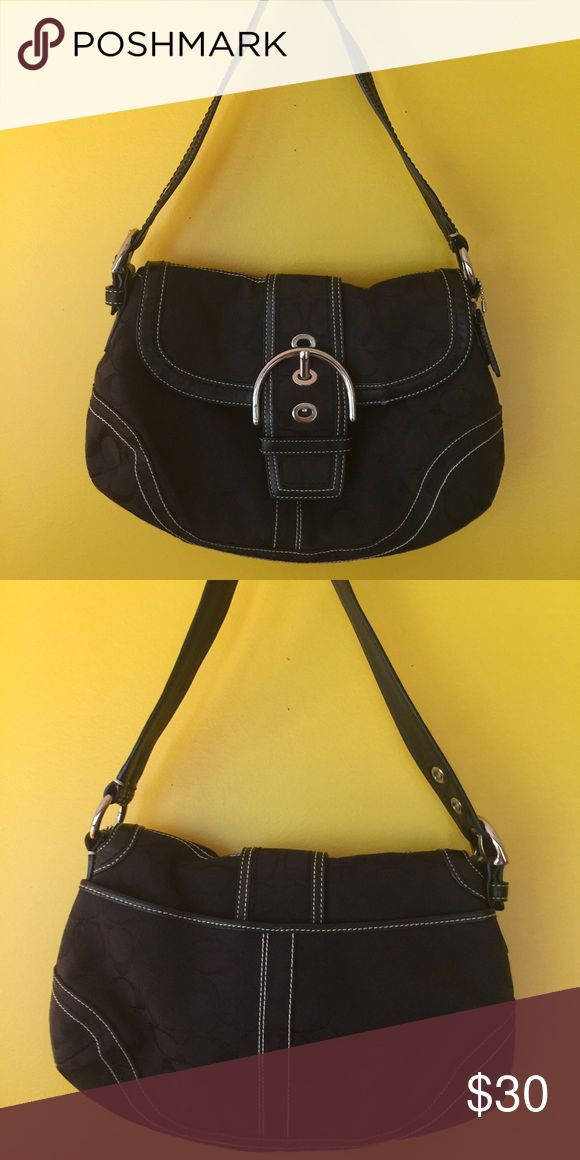 Classic black coach purse Adorable classic style black coach purse.  In very good shape. Coach Bags Shoulder Bags