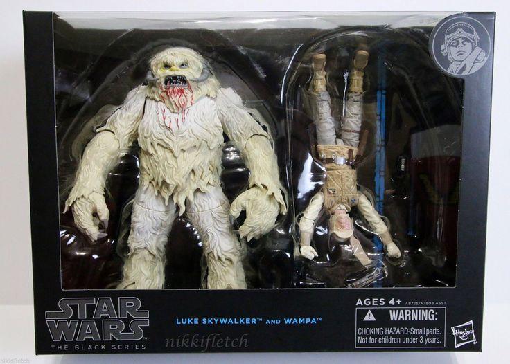 "Star Wars The Black Series Hoth Luke Skywalker and Wampa 6"" Action Figure Set   eBay"