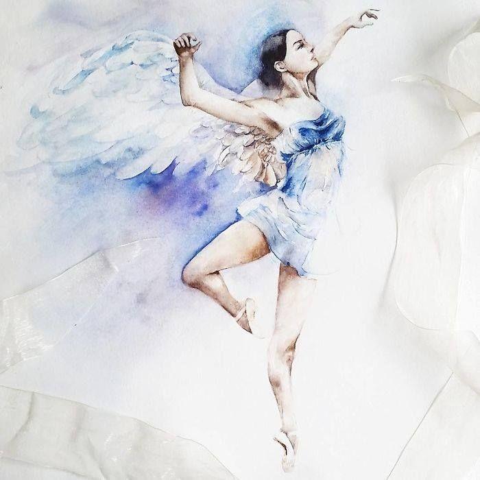 Художник-иллюстратор Yulia Shevchenko, так же известна под псевдонимом Yulia She, родом из России, но сейчас проживает в Нью-Джерси, США. Она использует акварельные краски для создания своих удивительных работ. Художницу вдохновляют простые повседневные вещи. Одной из самых известных работ Юлии является серия, посвященная балеринам. Здесь художница использует различные оттенки синего и розового цвета, чтобы создать магические световые образы и передать легкость и грацию каждого движения…