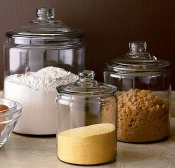 flour sugar coffee heritage hill glass jars with lids crate and barrel
