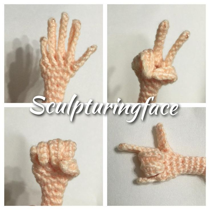 It's playful to crochet this little hand.... #amigurumi #crochet #pattern by…