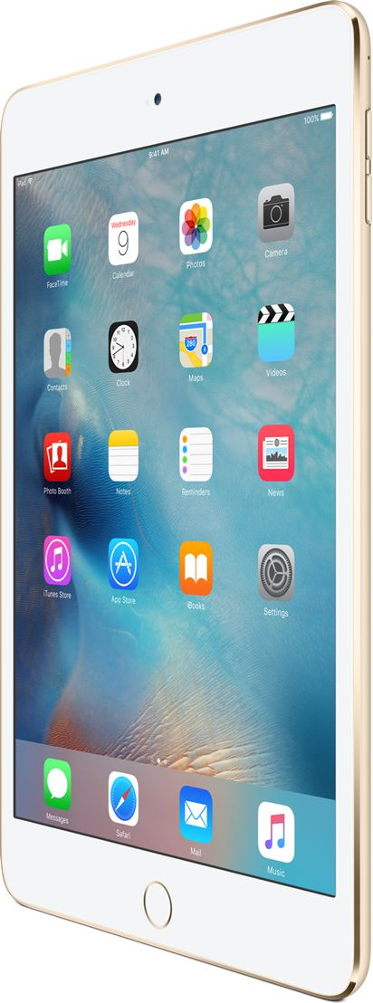 iPad mini 4 is available in Silver, Gold, or Space Gray, and a range of storage sizes. View iPad mini 4 and pricing.