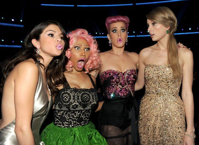 Selena Gomez, Taylor Swift, Katy Perry and Nicki Minaj