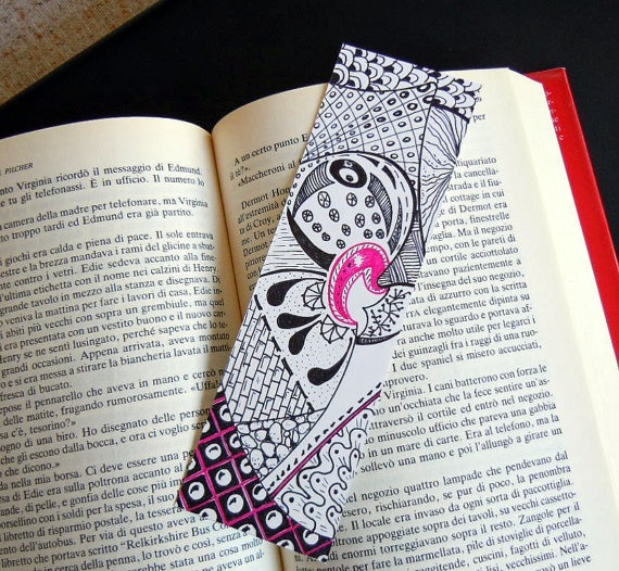 Zentangle Art Bookmark for my Book Club friends - great Christmas Gift!