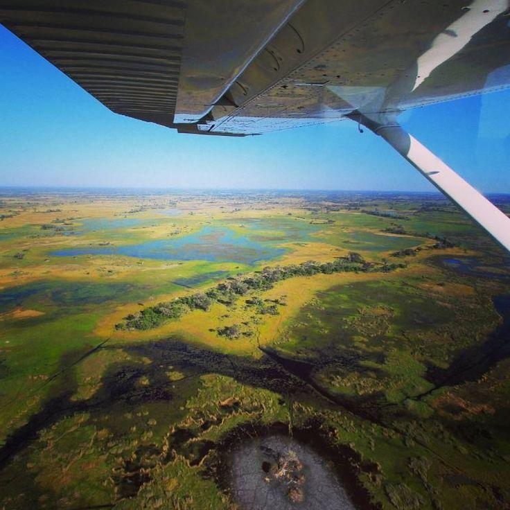 Een scenic flight over Botswana's Okavango Delta