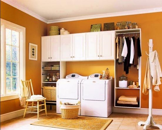 Laundry Room Paint Color Ideas for An Inviting Space Orange paint color ideas laundry rooms – Home Interiors
