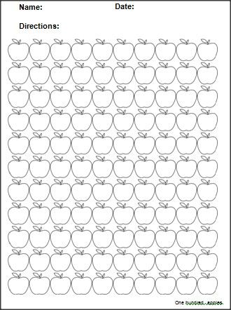 this 100 apples template can be used to create fall math worksheets for practicing number. Black Bedroom Furniture Sets. Home Design Ideas