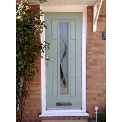 Ultimate Vermont Rockdoor in Chartwell Green with Haze and Chrome Hardware