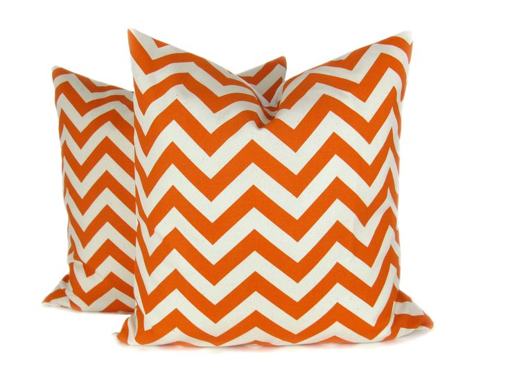orange pillow cover 20x20 pillow covers orange chevron pillow chevron pillow cover
