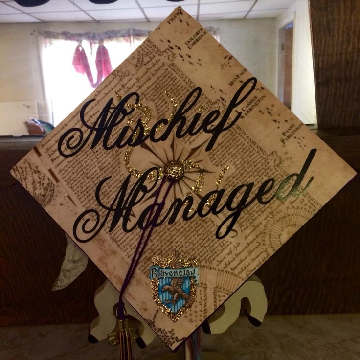 Harry Potter themed graduation cap