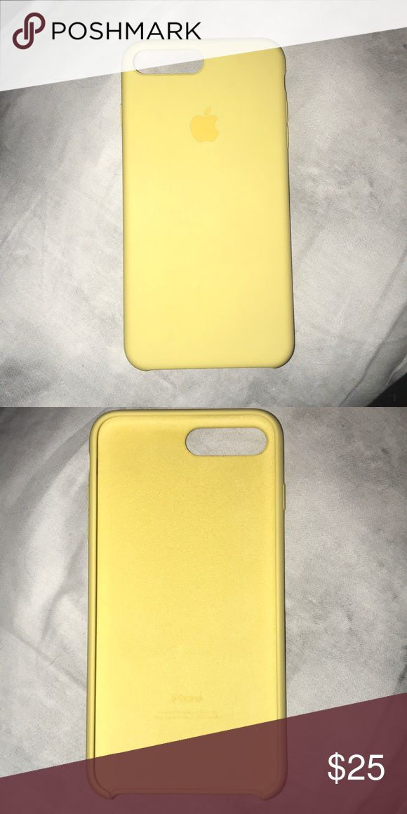 iPhone 7 Plus Apple Silicone Case iPhone 7 Plus Apple Product Yellow Silicone  Case. Used Twice. Like New. Accessories Phone Cases  262ce71a54bb4