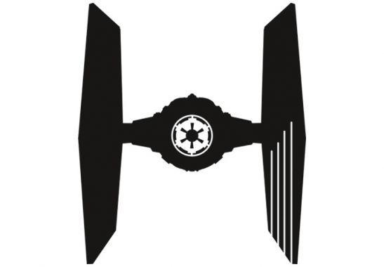 Wandtattoo Star Wars Clone Wars - TIE Fighter Silhouette als ...