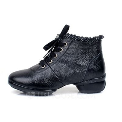 [US$ 53.99] Women's Real Leather Heels Boots Practice Dance Shoes (053064734)