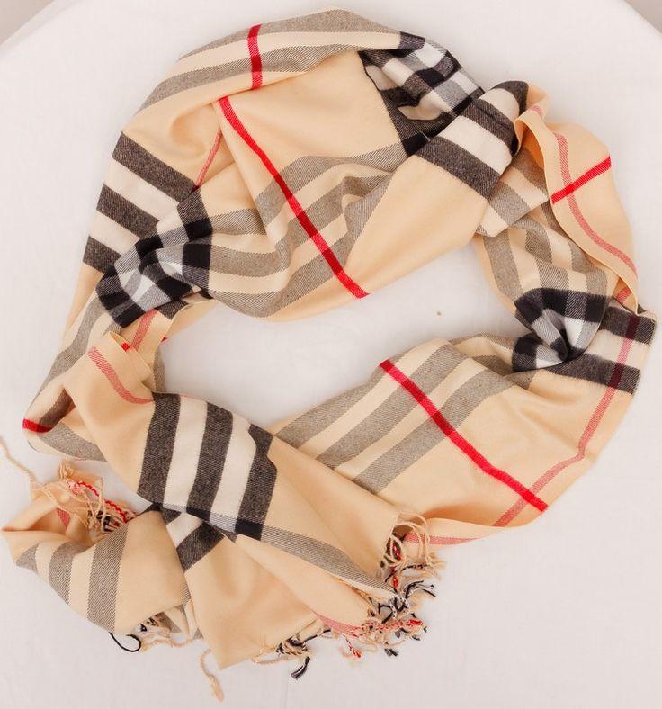 Теплый кашемировый шарфик Burberry. На осень и зиму