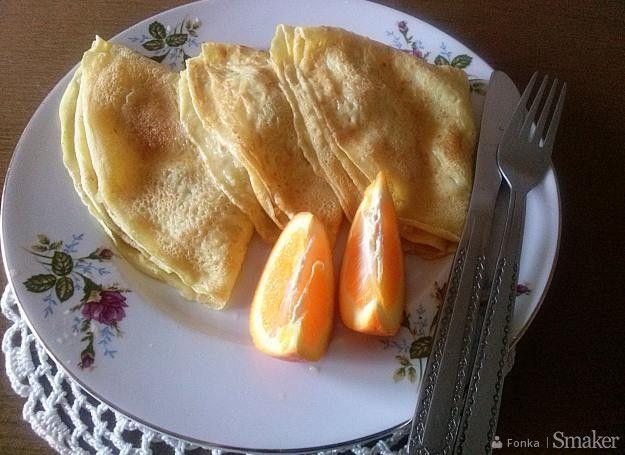 Naleśniki z jabłkiem i nutą pomarańczy.