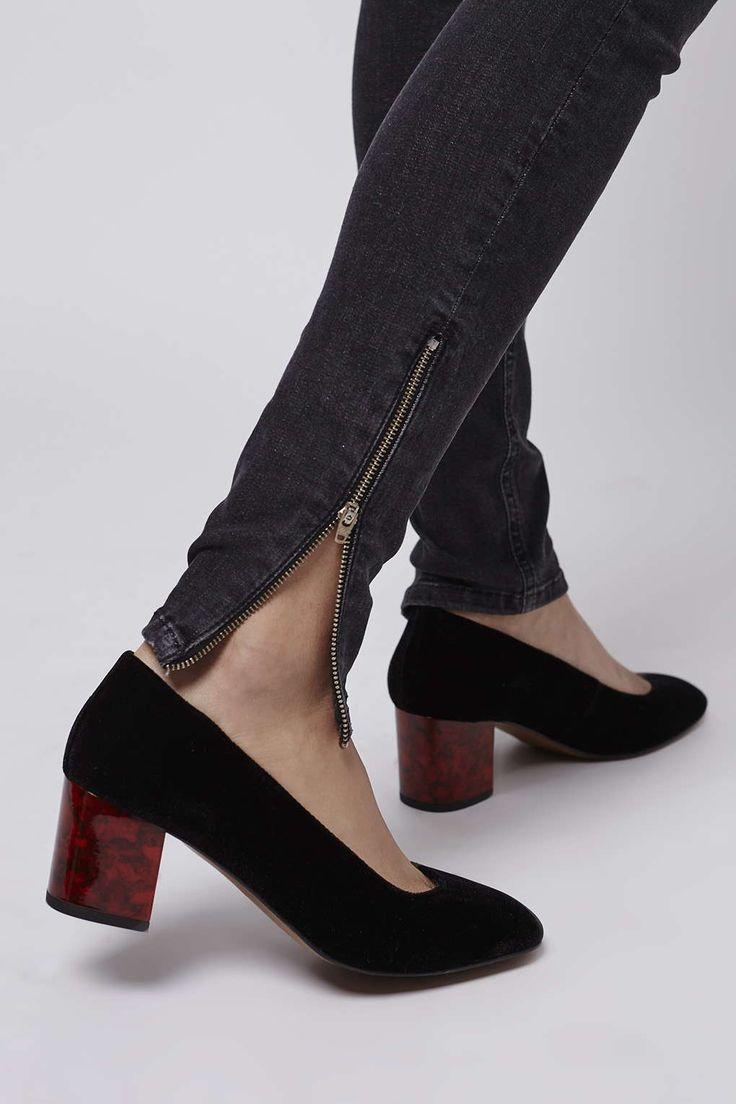 ❤️ the black version too! Topshop JONI Velvet Mid Shoes