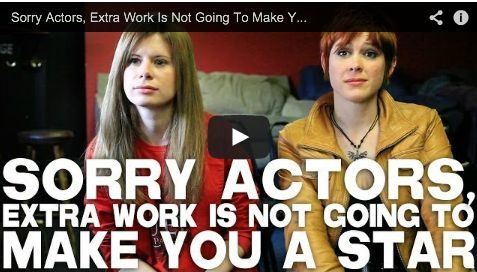 Sorry Actors, Extra Work Is Not Going To Make You A Star by Elle Schneider & Lily Cade via http://filmcourage.com.  More video interviews at:  http://www.youtube.com/user/filmcourage