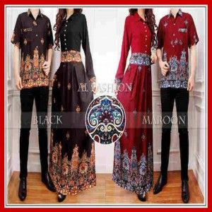Busana Muslim Maxi Long Dress Batik couple
