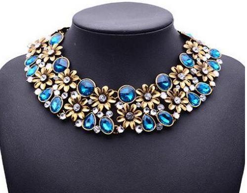 Naszyjnik kolia zara kwiaty kryształy turkus (5772128492) - Allegro.pl - Więcej niż aukcje.