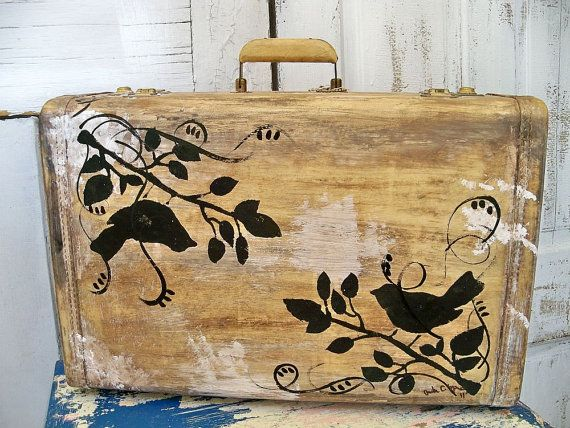 Vintage decorated Royalshire suitcase shabby by AnitaSperoDesign, $72.00