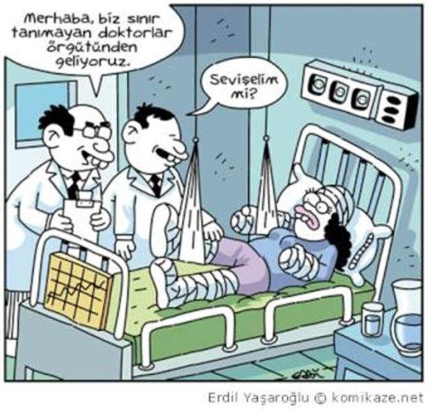 KARİKATÜR : Sınır tanımayan doktorlar :)) (+ 18 ARGO İÇERİR)