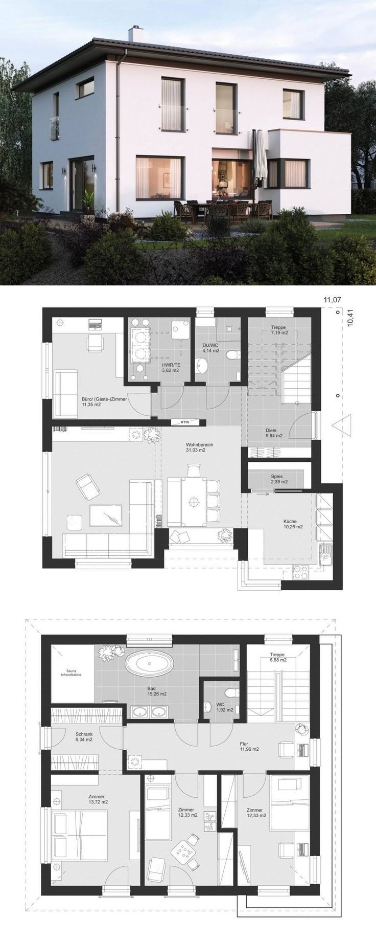 Architecture Designs Modern City Villa Floor Plan Architecture Classic With Hipped Roof Or Bay Wind Architecture Classical Architecture Architecture Design