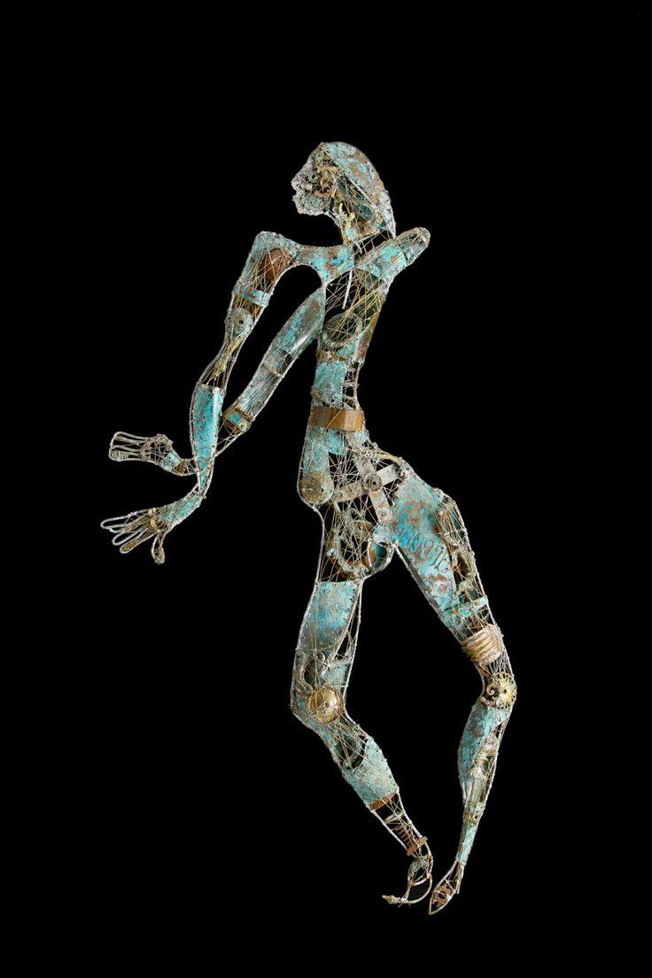 #Dancer - (2000) 180x80 - made with #copper #brass #bronze #tin #art #metalart #sculpture #metalsculptures #metal #dancing #etoile