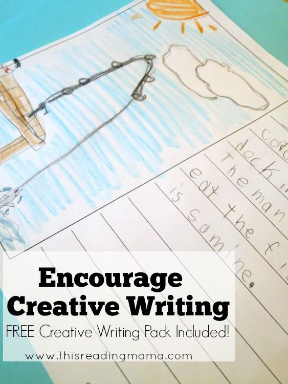 Creative Writing – Ask kids to finish the picture and write with Wiggle Writing, Shape Writing, Letter Writing, and Number Writing {FREE Creative Writing Pack Included!} | This Reading Mama