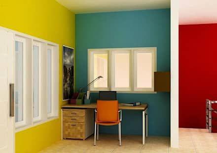 Pilih Warna yang Berbeda di Beberapa Ruangan:  Dinding by homify.co.id