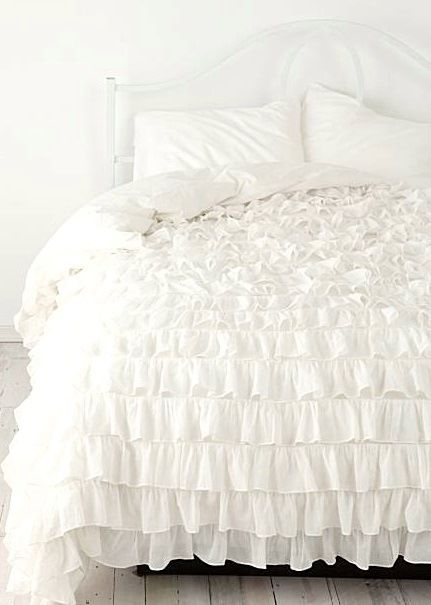 14 best images about dorm inspo on pinterest metallic for Frilly bedspreads