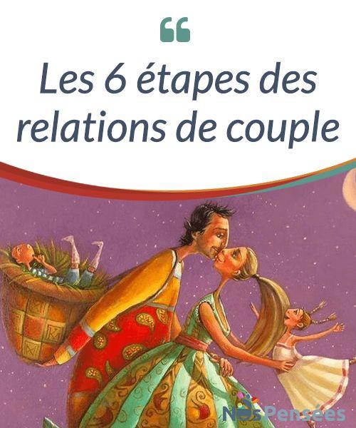 Les 6 étapes des relations de couple  Si on a conscience de ces différentes étapes, on peut alors aborder nos#relations avec #davantage d'assurance et de #tranquillité dès lors qu'il s'agit de s'intéresser aux différences de chacun, ainsi que de résoudre les conflits.  #Curiosités