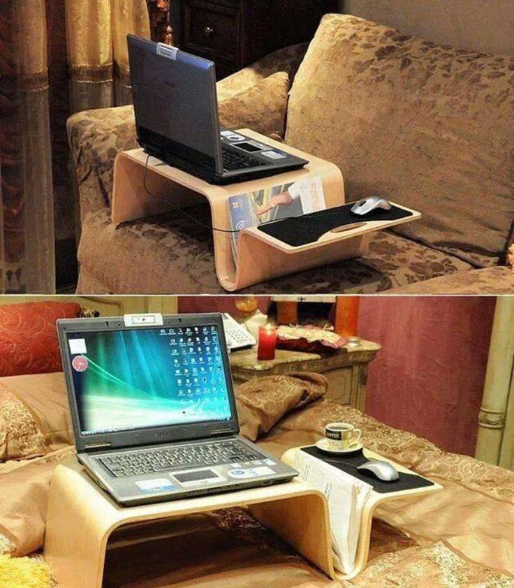 Pomysłowy stolik pod laptopa