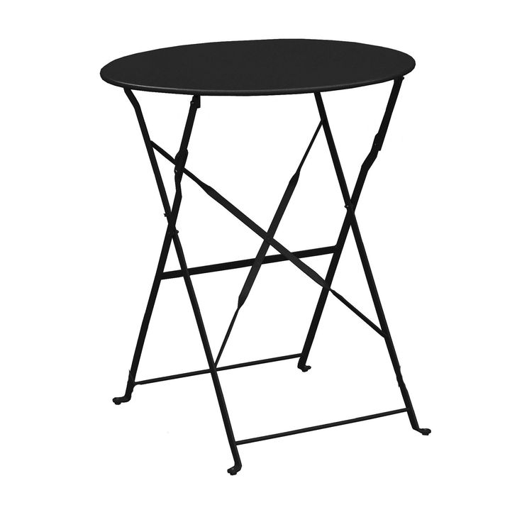 Τραπέζια κήπου : CAPO Τραπ.Πτυσ/νο Φ60cm Μεταλ.Μαύρο Ε514,1Τ