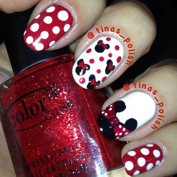 23 best Minnie Mouse nails images on Pinterest | Disney nails art ...