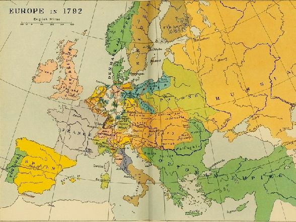 Map of Europe 1792