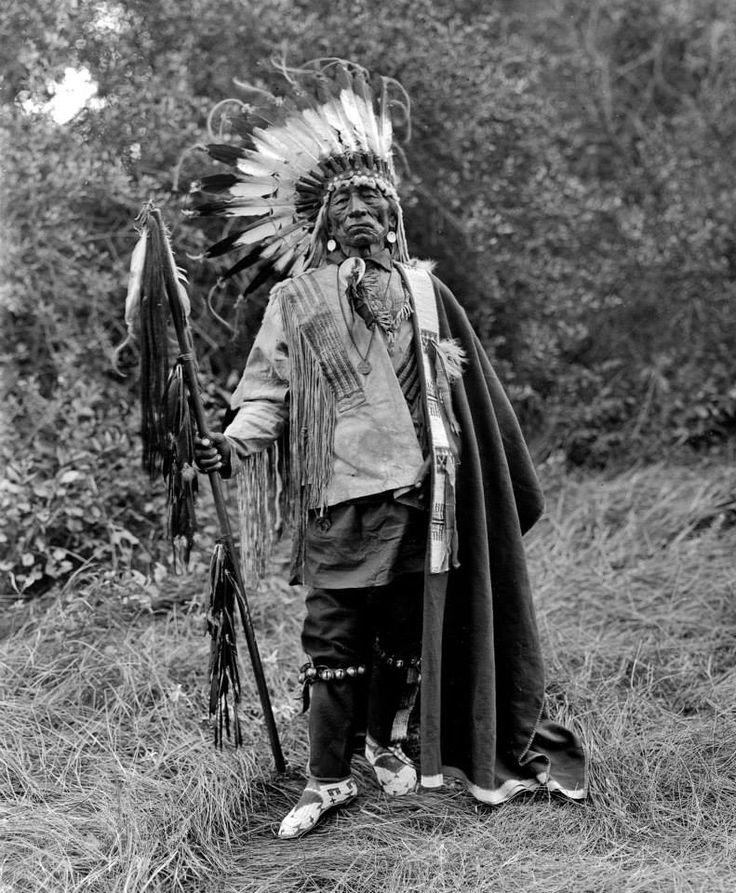 Chief With Tail - Yanktonai (Crow Creek Band) - 1909