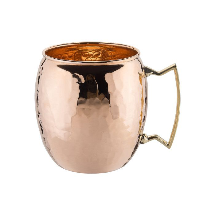 Features: -Designed to serve Moscow Mules. -Solid copper construction with solid cast brass handle. Product Type: -Moscow mule mug. Capacity: -16 Fluid Ounces. Color: -Copper. Number of Items In